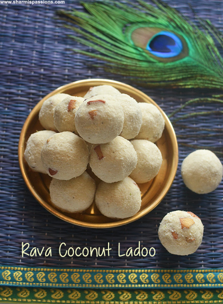 Rava Ladoo with Coconut