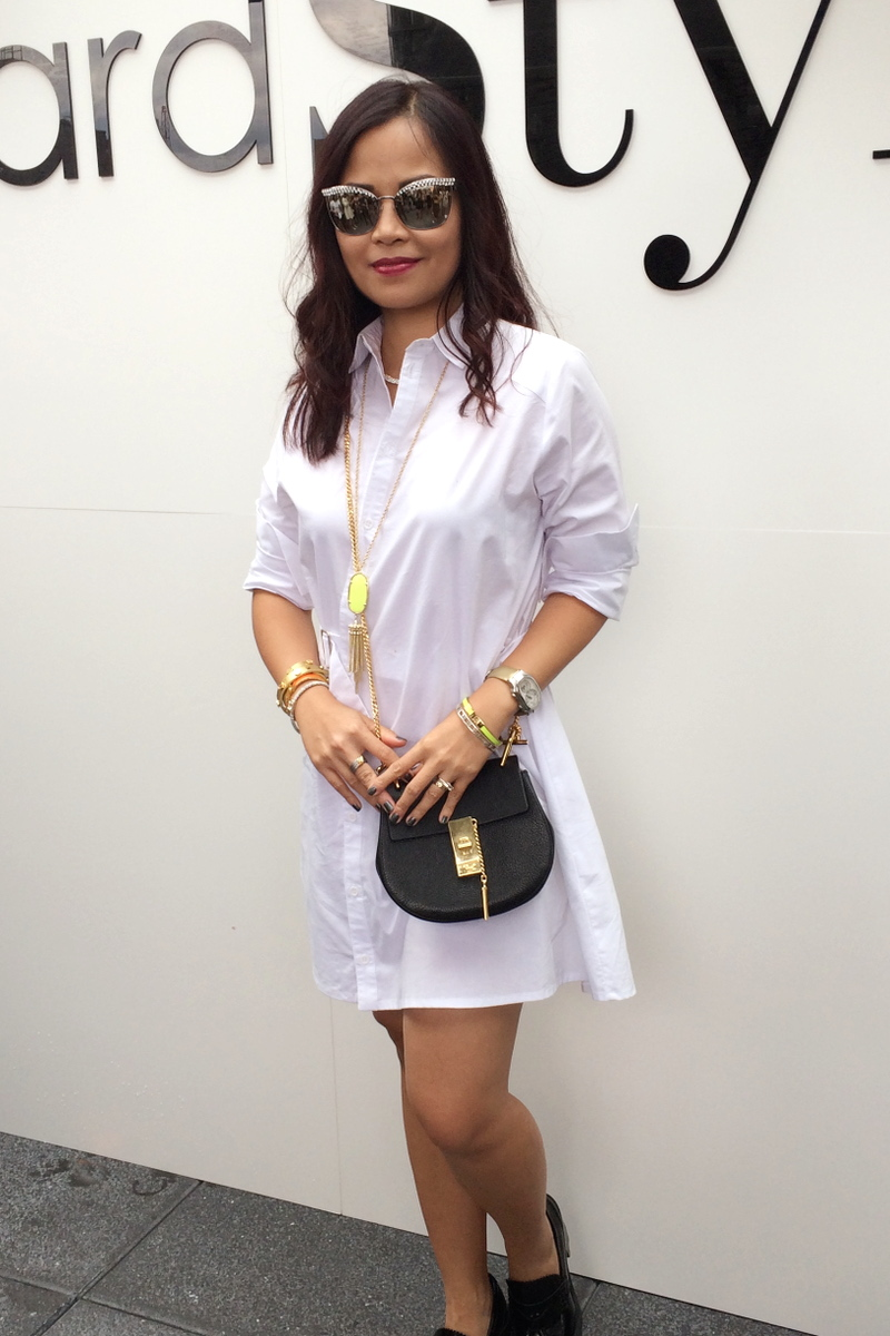 Topshop-white-shirt-dress-mirrored-sunglasses-chloe-drew-bag-3