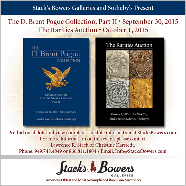 Stacks-Bowers E-Sylum ad 2015-09-13 Pogue