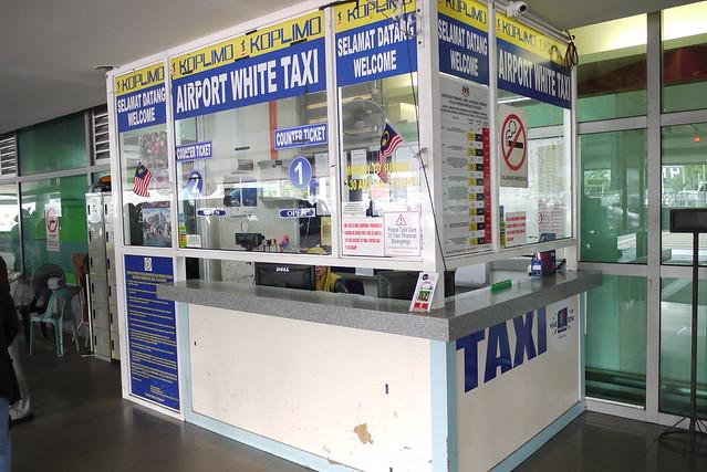機場外的Taxi Counter