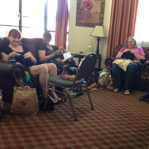 Lobby knitting! #cfr7