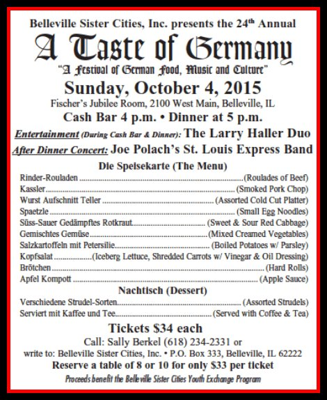 A Taste Of Germany 10-4-15