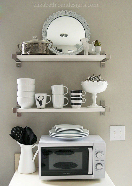 Neutral Open Shelves Kitchen