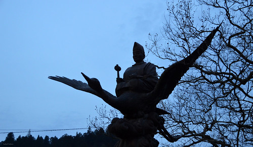 street travel blue sky sculpture japan swan asia religion culture tradition shinto takayama japon tradicion