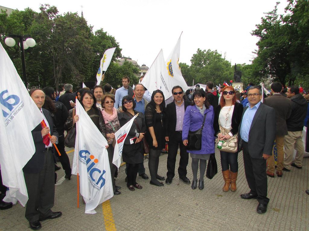 Atradip en marcha ANEF apoyando Paro Nacional del Registro Civil - 28 Octubre 2015
