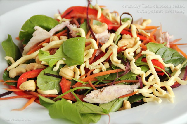 Crunchy Thai Chicken Salad with Peanut Dressing 1