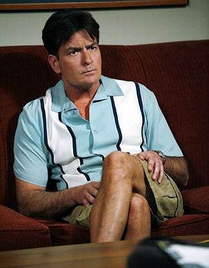 Charlie Sheen crossed legs