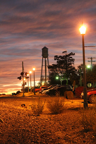 sunset watertower cuba nighttime missouri