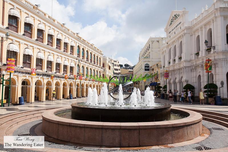 Fountain in Senado Square, Macau