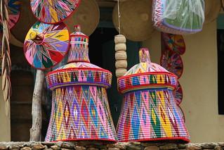 Hand woven Baskets.