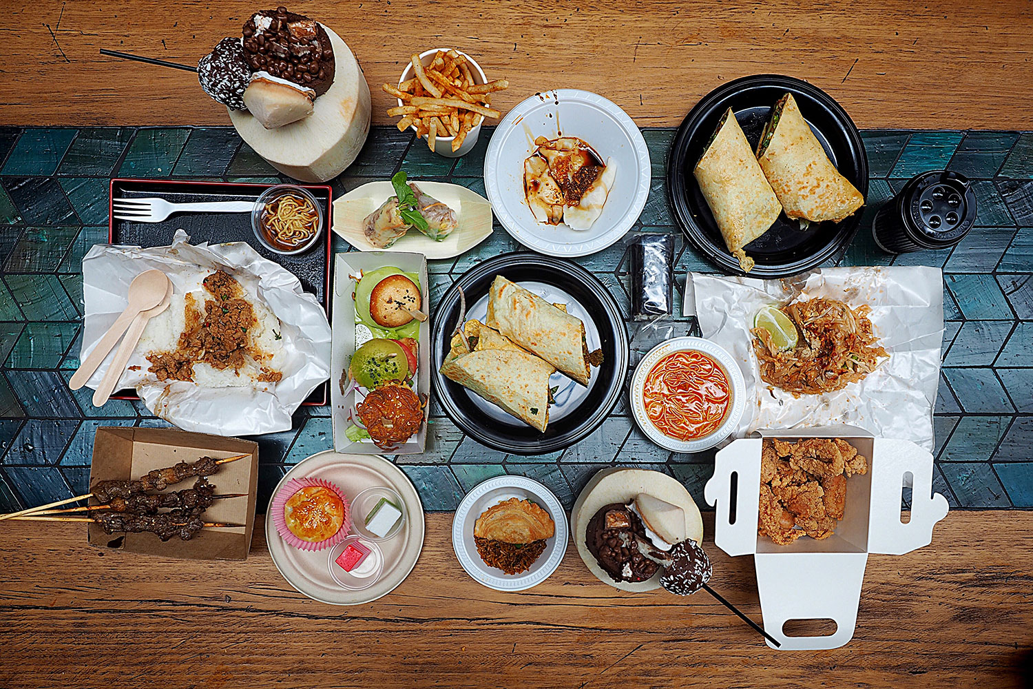 Food Spread, Hawker Lane: Sydney Food Blog Review