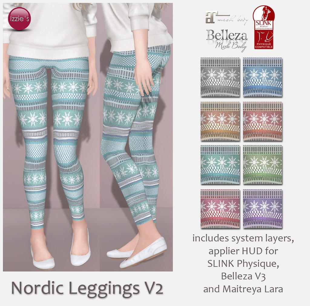 Nordic Leggings V2 (for FLF) - SecondLifeHub.com