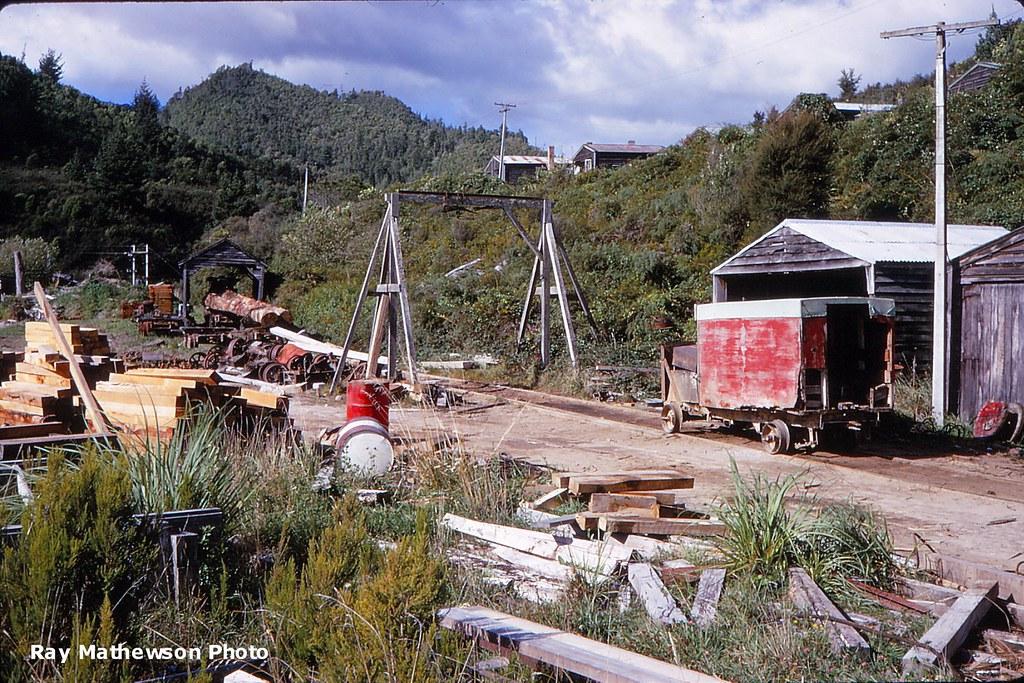 Ngatira general view of mill yard April 1969