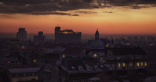 zagreb croatia urban city buildings architecture travel cityscape urbanlandscape dusk panorama skyline roof