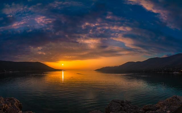 Sunset colours