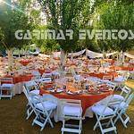 sillas blancas madera para boda