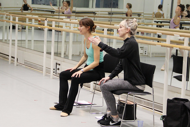 Ballet Mistress Samantha Raine and Assistant Ballet Mistress Sian Murphy in rehearsal for The Sleeping Beauty, The Royal Ballet © 2016 ROH. Photograph by Rose Slavin