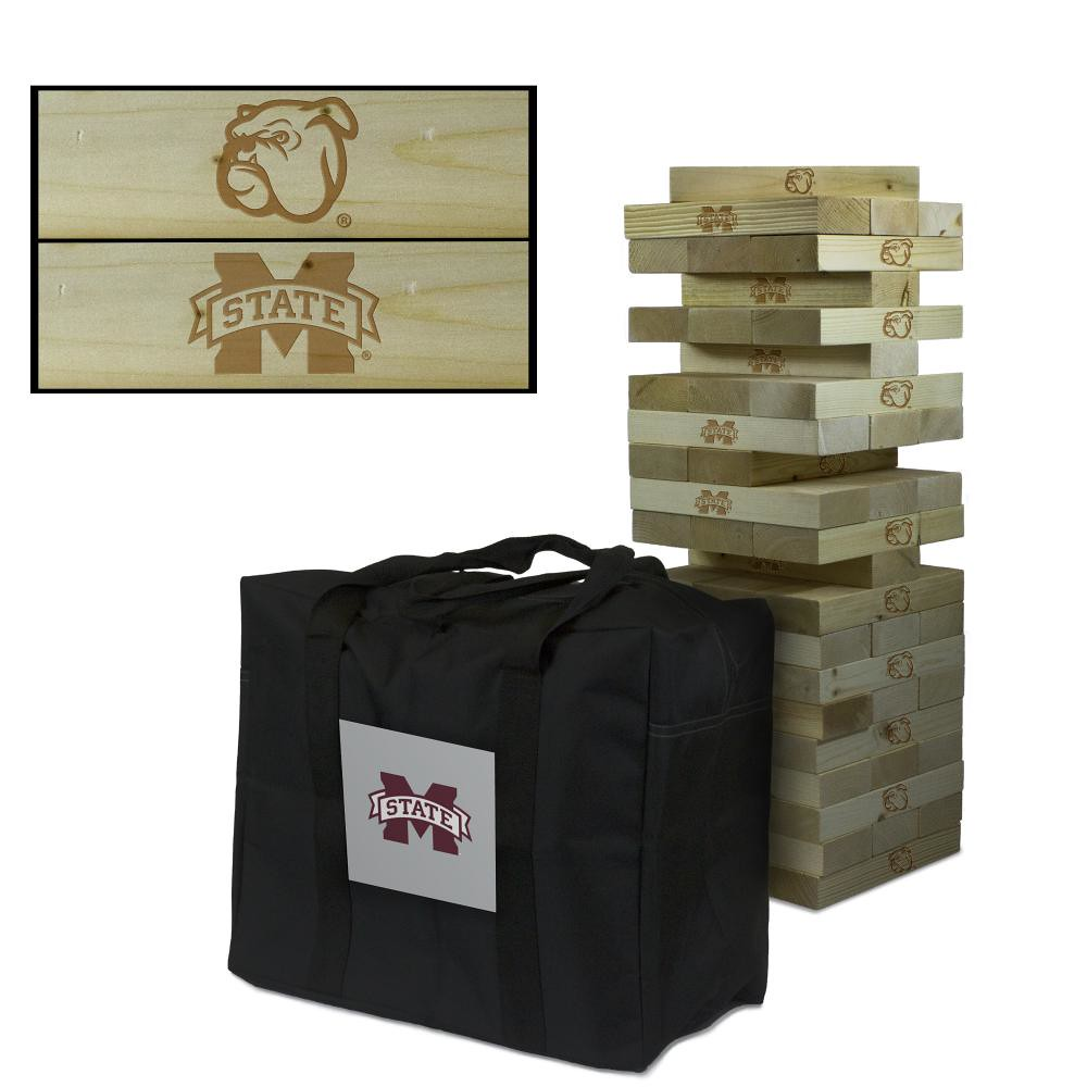 Mississippi State University Bulldogs Wooden Tumble Tower Game