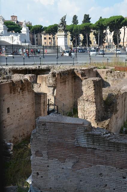 The Athenaeum of Hadrian, built in 123 AD, located in Piazza Venezia, Rome