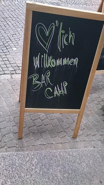 #barcampCH Aufsteller