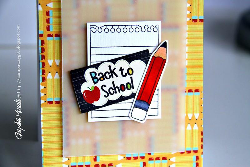 Back to school closeup