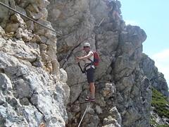 Anne in klettersteig