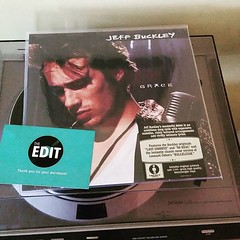 "Jeff Buckley's ""Grace"" just arrived from @vinyledit. #vinyl #jeffbuckley #grace #turntable"