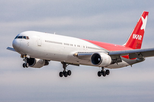 Glissade Молодая боинг 767-300 авиакомпании икар высокой