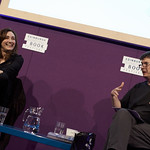 Viv Albertine with Chair Ian Rankin | Former guitarist of The Slits Viv Albertine talks to Ian Rankin about her life as a punk rocker at the Book Festival © Helen Jones