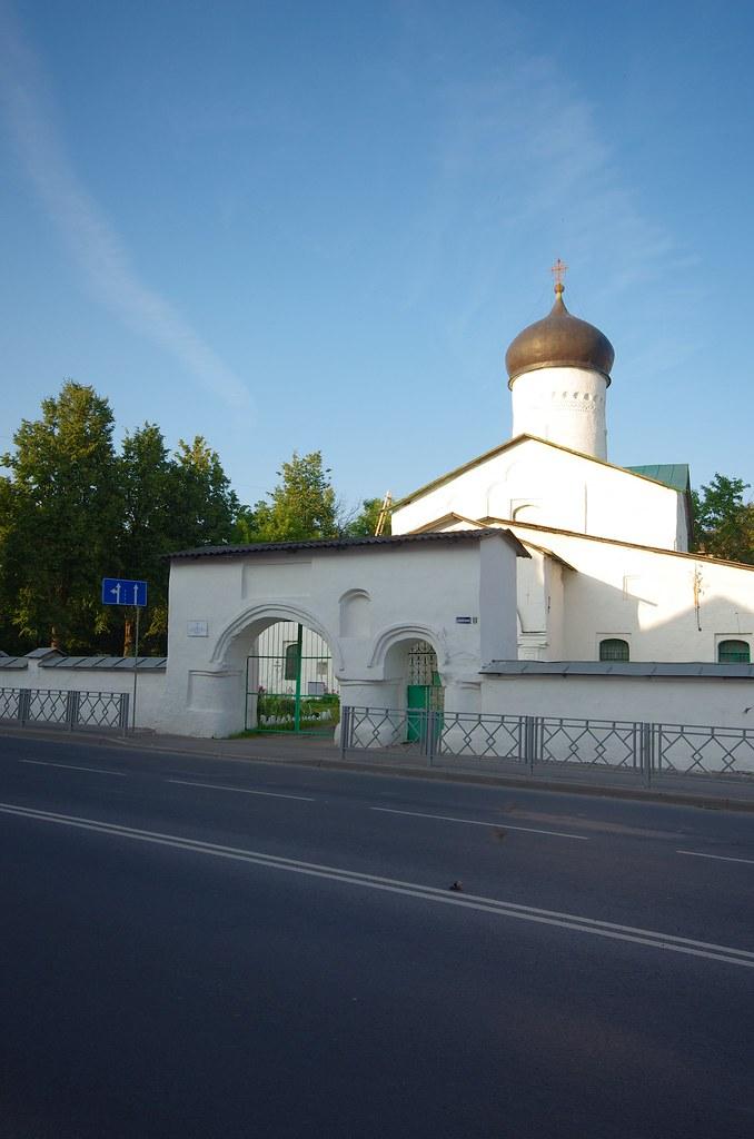 Псков, Россия, Церковь Козьмы и Дамиана с Примостья