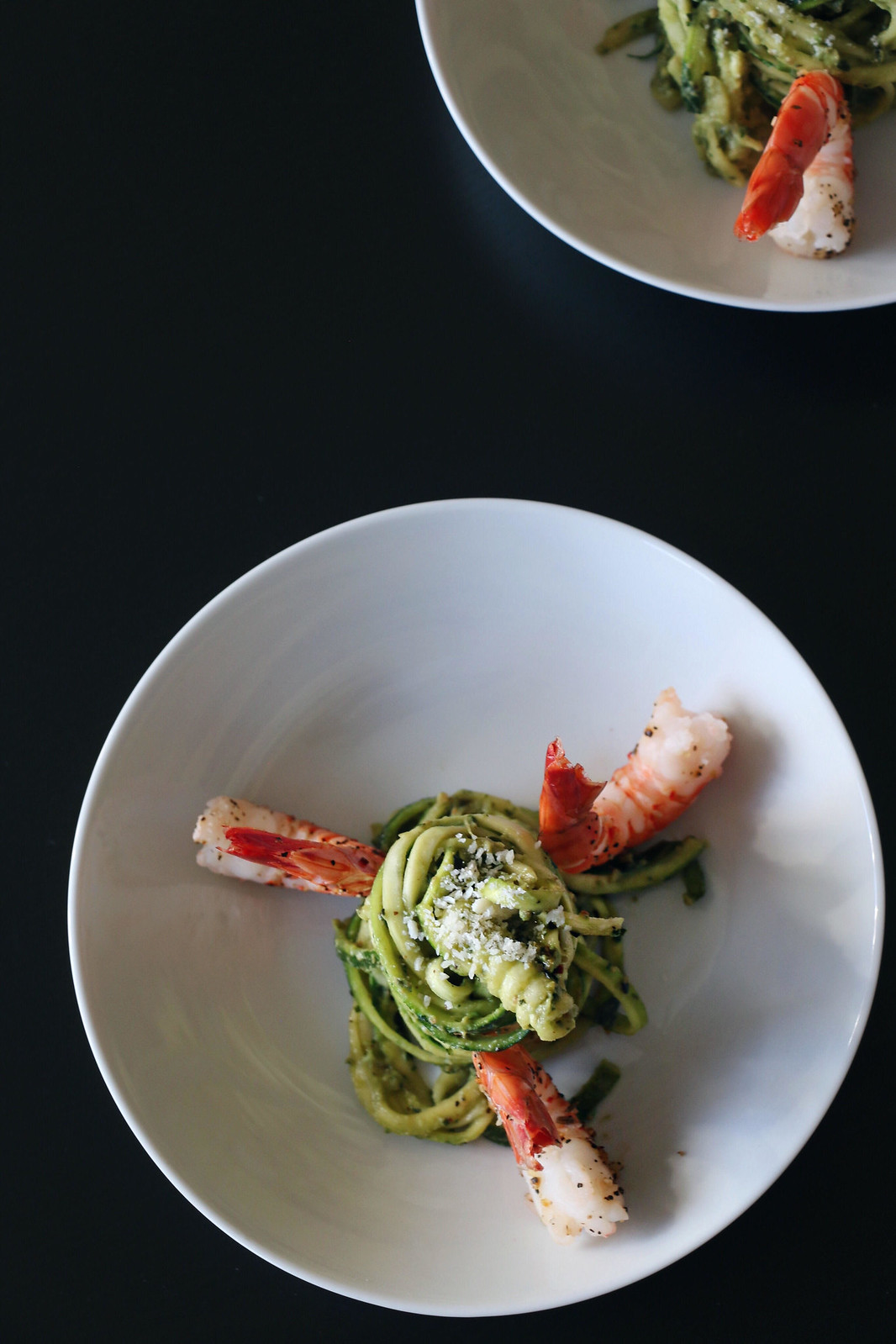 kale pesto zoodles with prawns 3