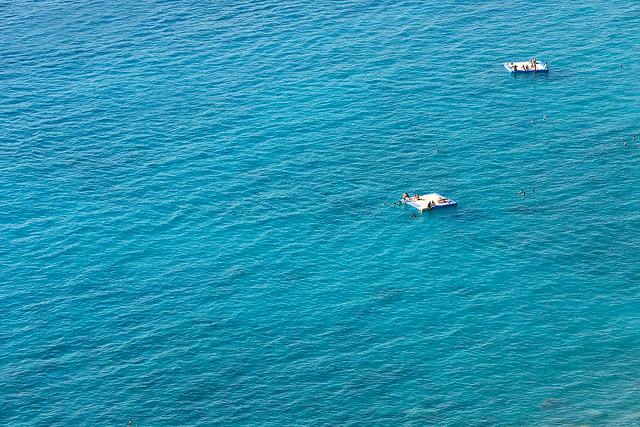 Swimming in the ocean near Fethiye, Turkey.