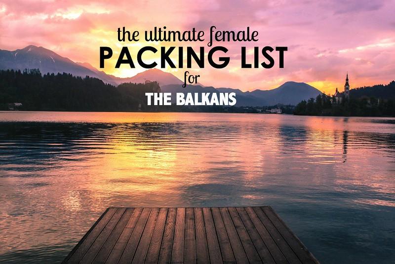 Packing list for the Balkans