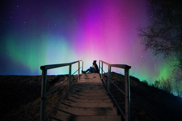 Watching Aurora Borealis