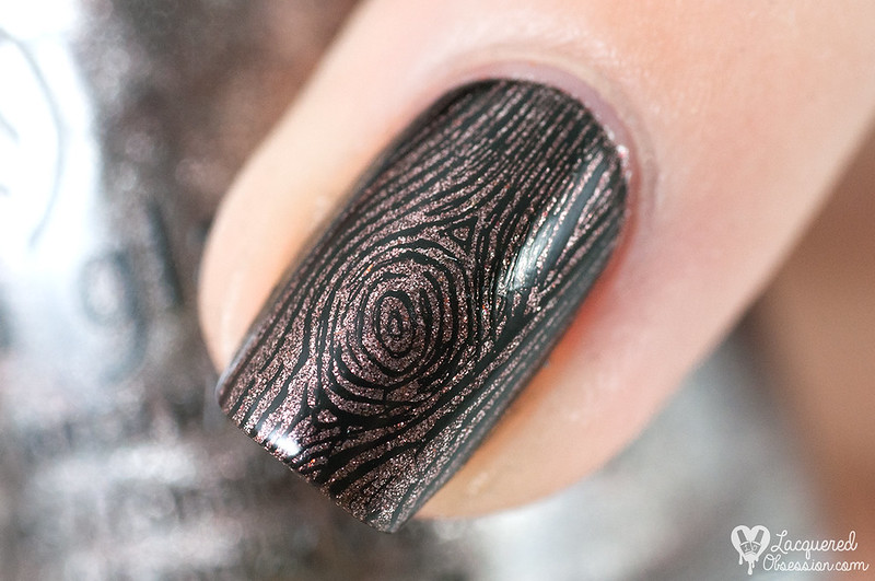 China Glaze - Wood You Wanna? + Moyra - Labyrinth