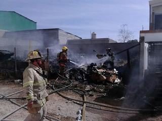 Incendio en Recicladora