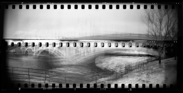 70mm Holga - Centre Street Bridge -3