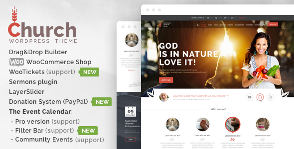 Themeforest Church and Events v17 – Responsive WordPress Theme