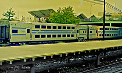 LI RR Cars near Shea Stadium