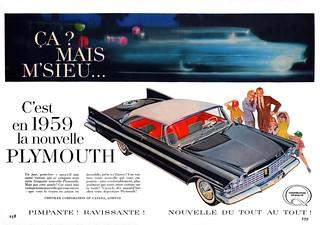 1959 Plymouth Fury 2-Door Hardtop Ad (Canada)