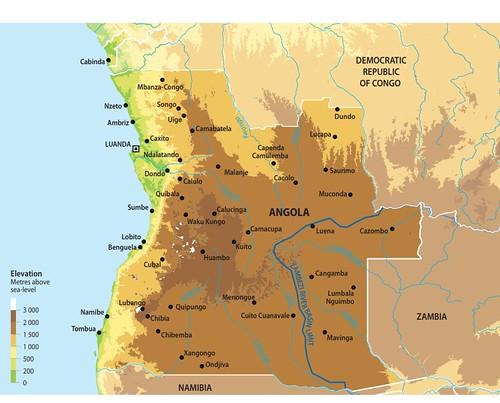 Map of Angola GRIDArendal