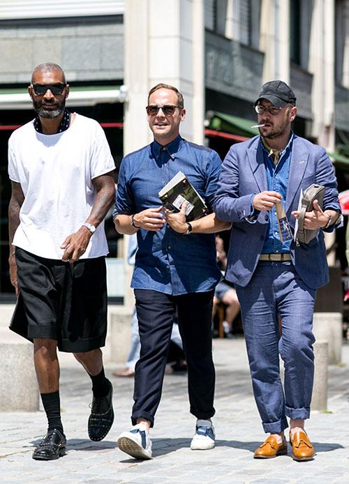 Tシャツ×ハーパン&シャツ×トラウザー&ジャケット×リネンパンツ