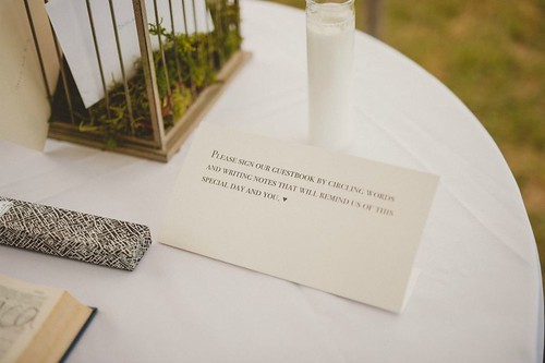 Wedding Guest Book Instructions - Pat Robinson Photography
