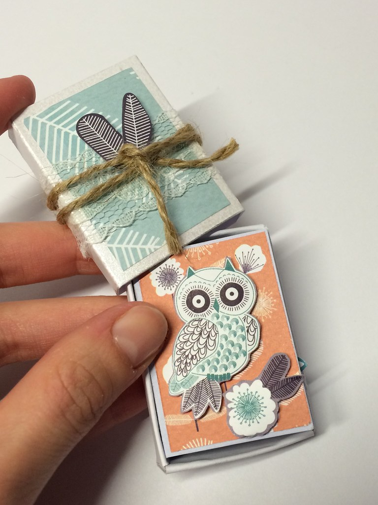 Owl Folk match box mini book by StickerKitten