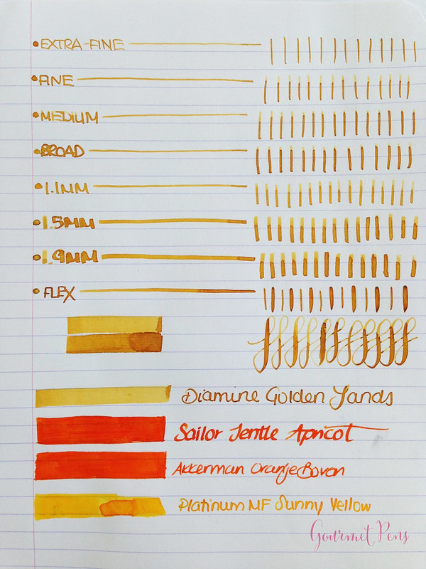 Ink Shot Review Diamine Golden Sands (3)