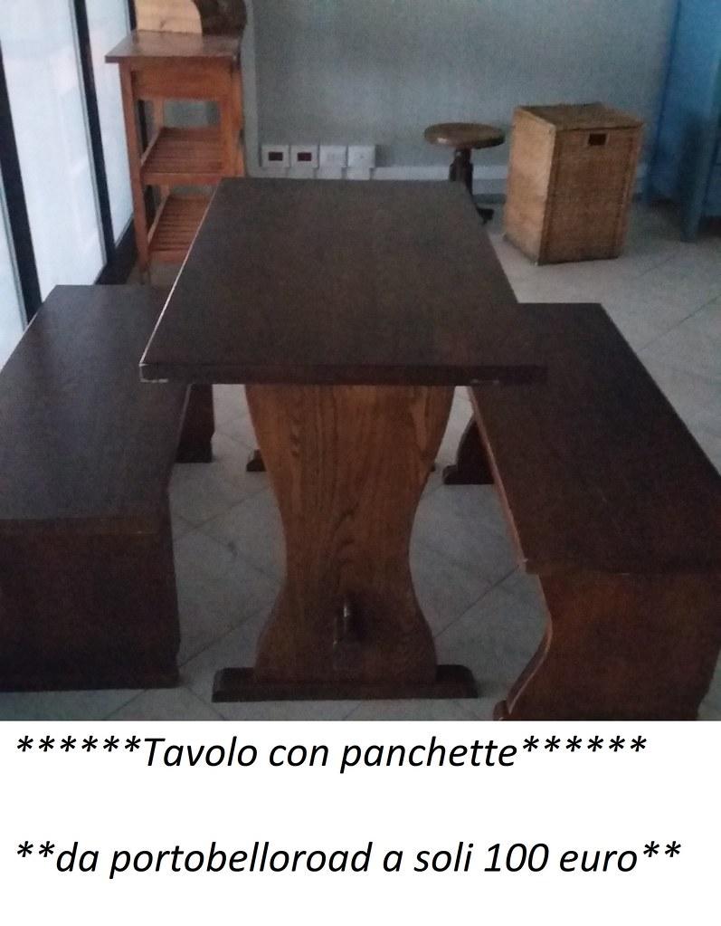 Tavolo Legno Con Panche.Tavolo Con Panca Di Legno Portobello Road Flickr