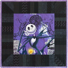 Jack Skellington Custom Quilted Pillow Sham by Whimzie Quiltz