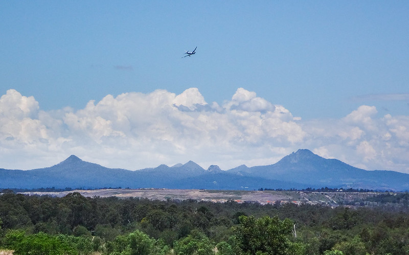 Globemaster over Mount Flinders