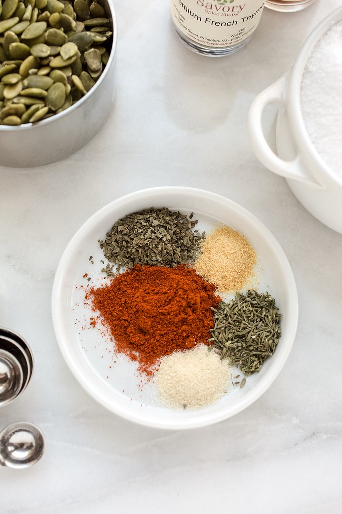 herbs and spices in dish