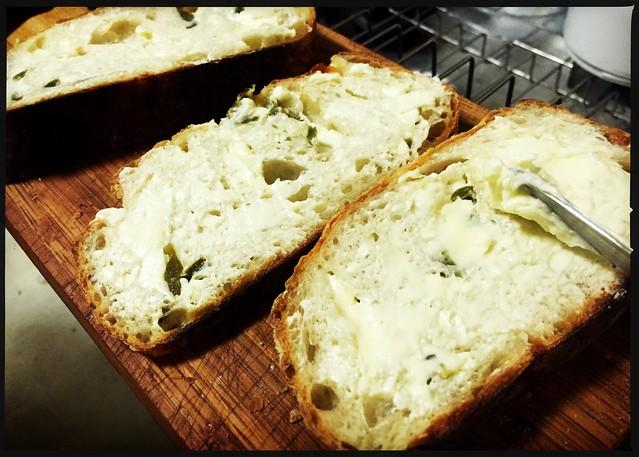 Homemade cultured butter.